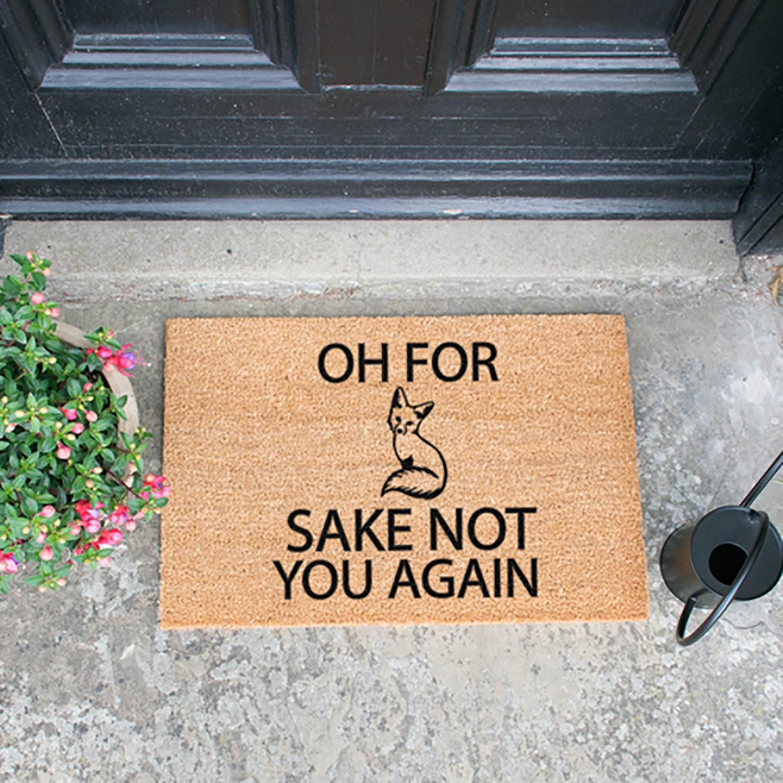 Image of For Fox Sake Door Mat