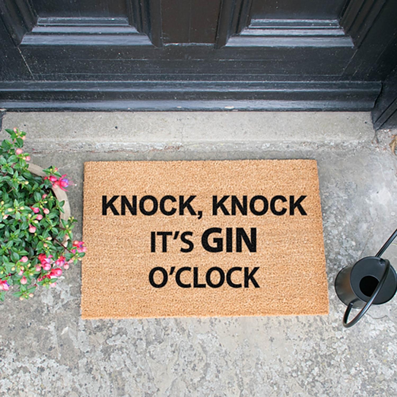 Image of Knock Knock It's Gin O'Clock Door Mat