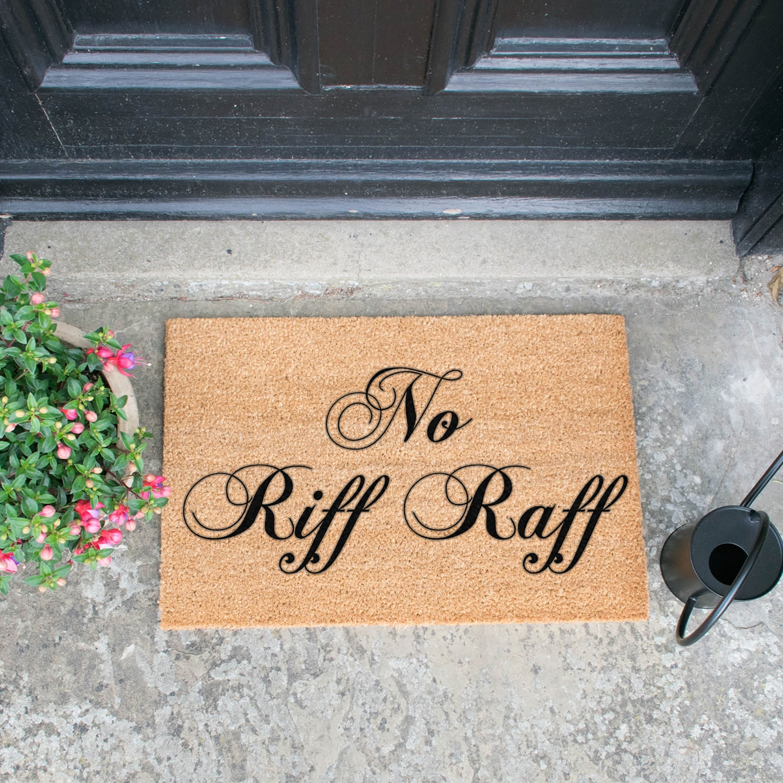 Image of No Riff Raff Door Mat