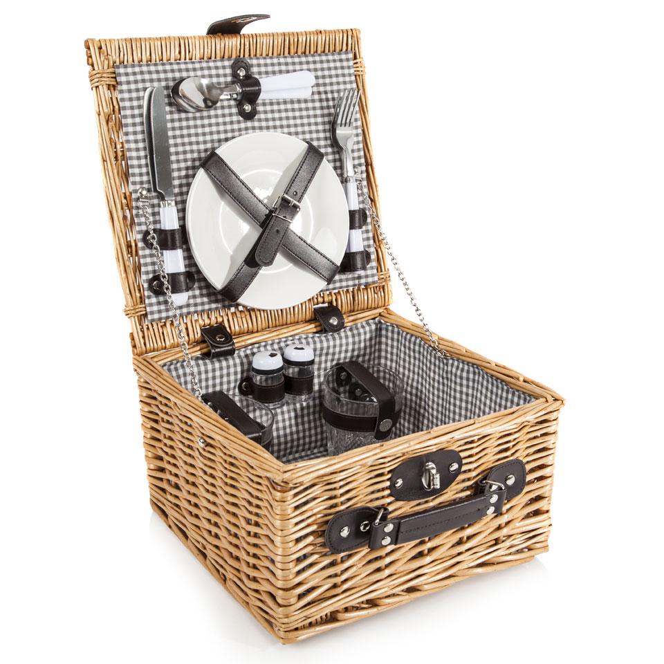 Ascot Traditional Wicker Picnic Basket for Two