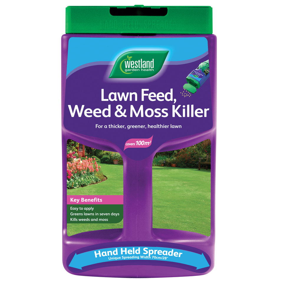 Westland Lawn Feed, Weed & Moss Killer with Spreader