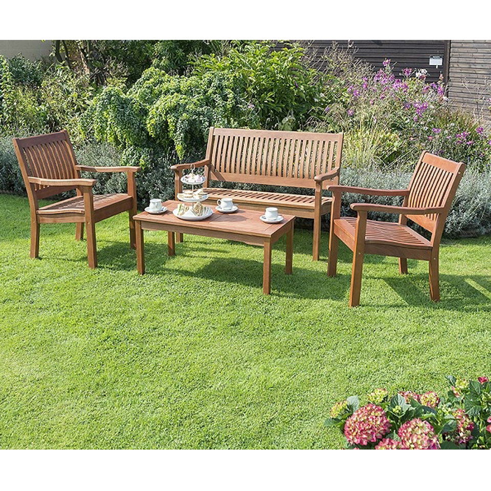 Buy cheap hardwood patio set compare sheds garden for Best deals on patio furniture sets